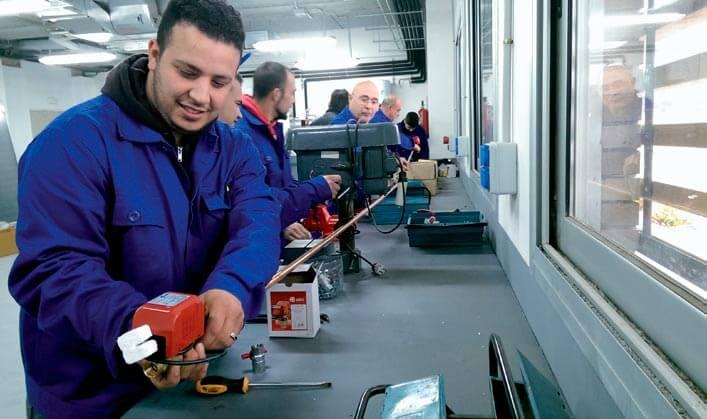 Prácticas frío industrial en el Centro Técnico de Sant Esteve Sesrovires