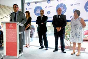 Parlaments durant l'acte inaugural del Centre Tècnic Fundació Privada Jaume Balmes