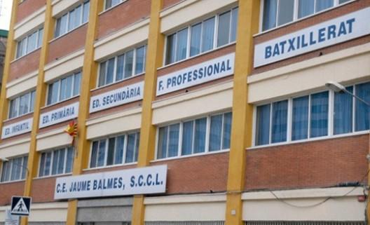 Fachada del C.E. Jaume Balmes en Hospitalet de Llobregat