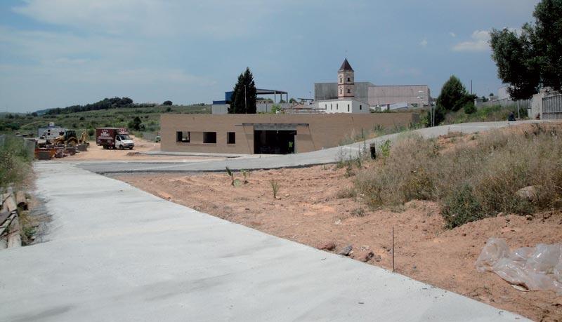 Entrada principal de la Fundació Privada Jaume Balmes en construcción