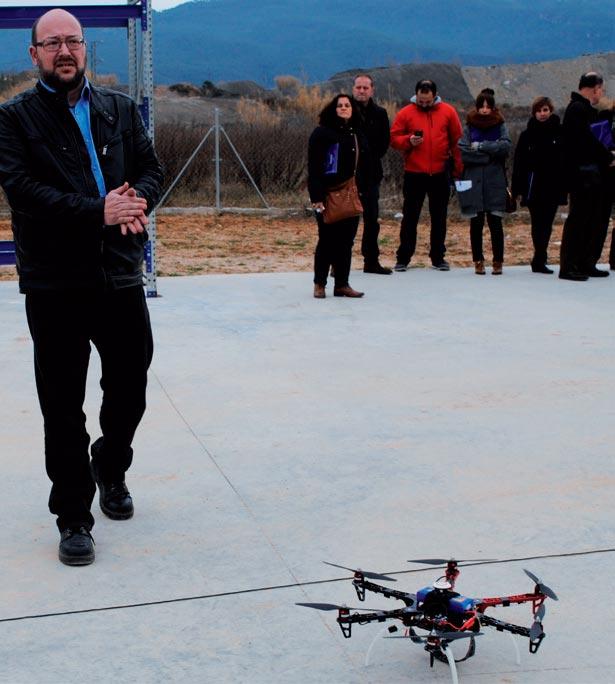 Uso de drones en el Centro Técnico de Sant Esteve Sesrovires