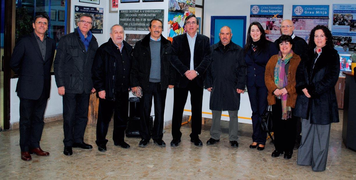 Recepció del Sr. Alcalde, Enric Carbonell i Sra. Regidora, Elisenda Barberà a les instal·lacions del C. E. Jaume Balmes.